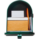Gibraltar Elite T2 Large Green Steel Rural Post Mount Mailbox Image 3