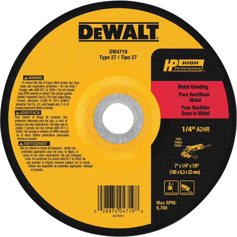 DeWalt HP Type 27 7 In. x 1/4 In. x 7/8 In. Metal Grinding Cut-Off Wheel Image 1