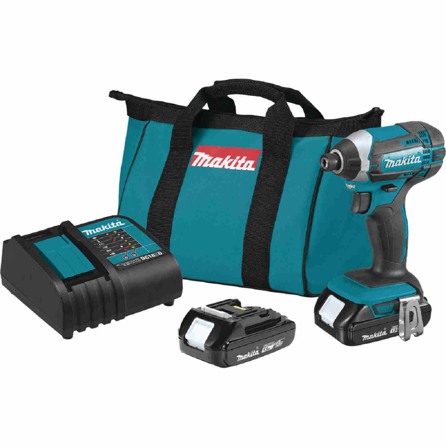 Makita 18 Volt Lithium-Ion 1/4 In. Hex Cordless Impact Driver Kit Image 1