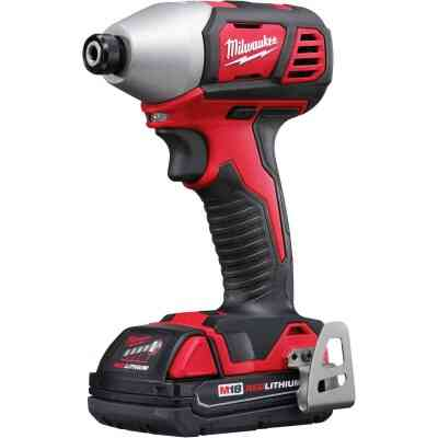 Milwaukee M18 18 Volt Lithium-Ion 2-Speed 1/4 In. Hex Cordless Impact Driver Kit (with 2 Compact Batteries)