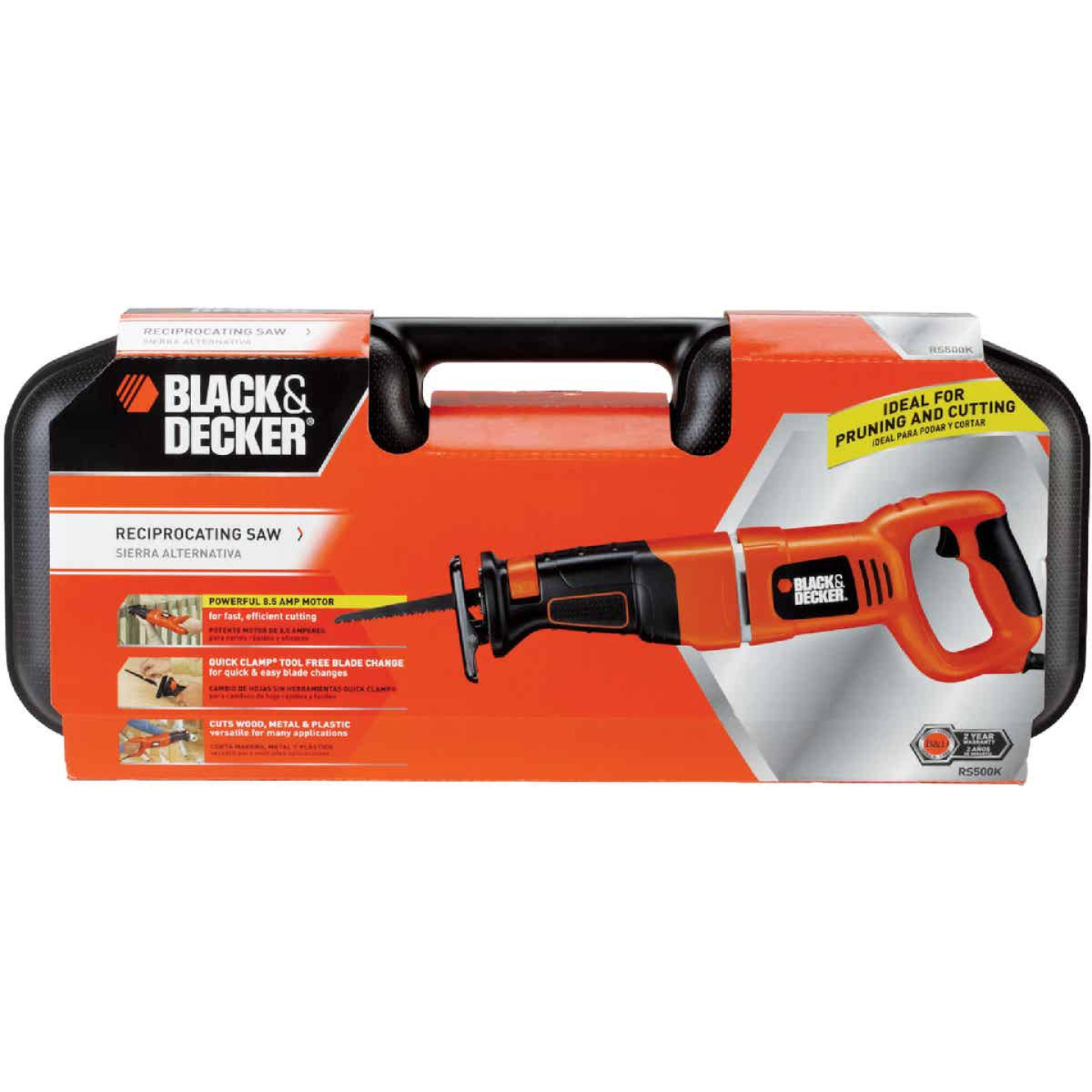 Black & Decker 8.5-Amp Reciprocating Saw Kit Image 9