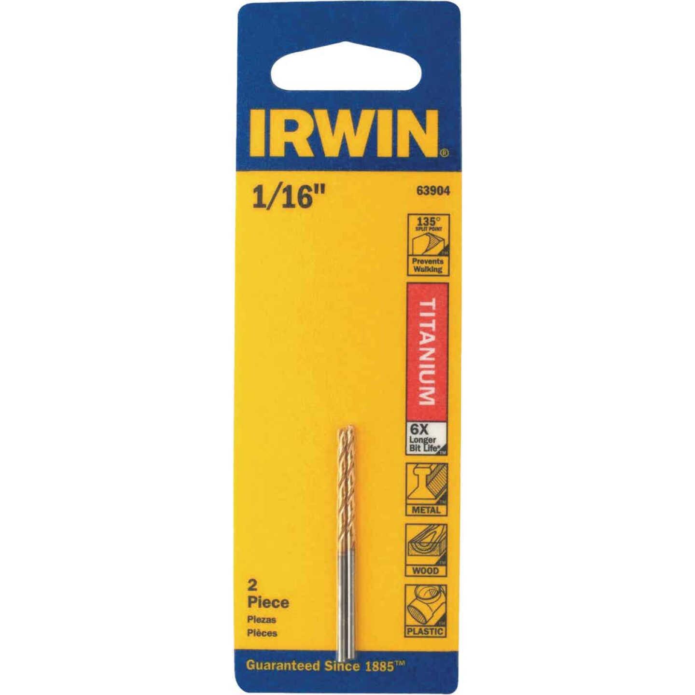 Irwin 1/16 In. Titanium Drill Bit Image 1
