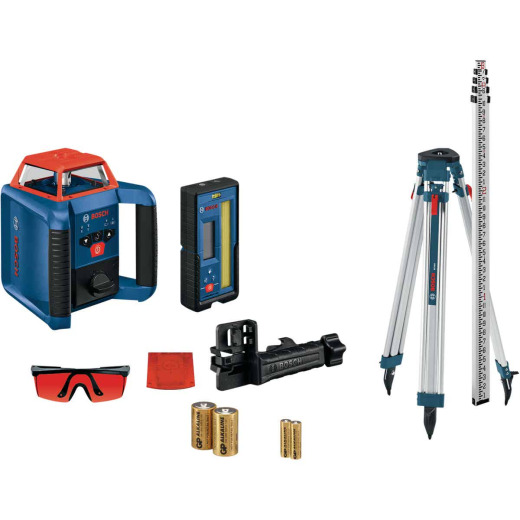 Bosch REVOLVE2000 2000 Ft. Self-Leveling Horizontal/Vertical Rotary Laser Level Kit