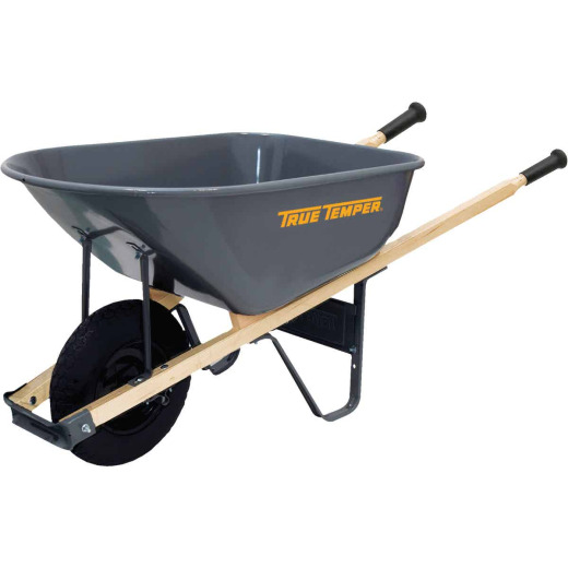 True Temper 6 Cu. Ft. Steel Wheelbarrow